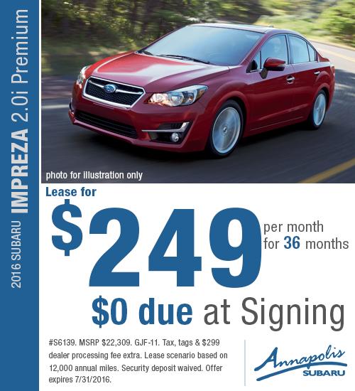 2016 Subaru Impreza 2.0i Premium Special Lease Offer in Annapolis, MD