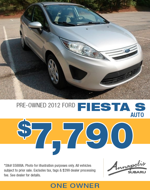 Save on a quality pre-owned 2012 Ford Fiesta S in Anne Arundel County, MD