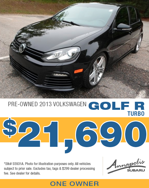 Save on a quality pre-owned 2013 Volkswagen Golf R in Anne Arundel County, MD