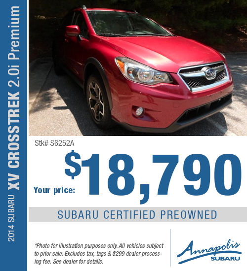 Save with this special offer on a high-quality pre-owned 2014 Subaru XV Crosstrek 2.0i Premium in Annapolis, MD