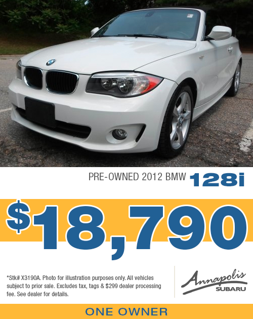 Get a discount on a quality 2012 BMW 128i at Annapolis Subaru in Anne Arundel County, MD