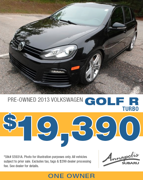 Save with this special offer on a high-quality pre-owned 2013 VW Golf R Turbo in Annapolis, MD
