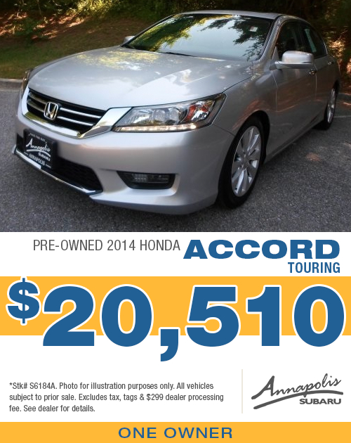 Save with this special offer on a high-quality pre-owned 2014 Honda Accord Touring in Annapolis, MD