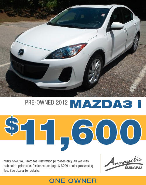Save on a quality pre-owned 2012 Mazda3 i in Anne Arundel County, MD