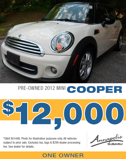 Save with this special offer on a high-quality pre-owned 2012 Mini Cooper in Annapolis, MD
