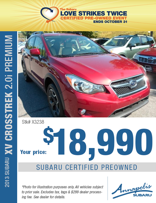 Save on a quality Certified Pre-Owned 2013 Subaru Crosstrek Premium in Anne Arundel County, MD