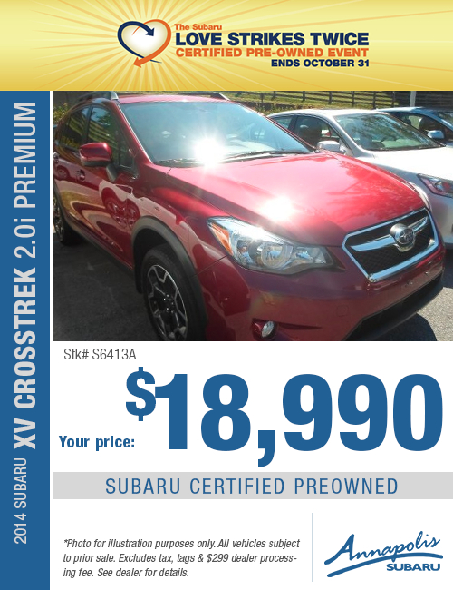 Save on a quality Certified Pre-Owned 2014 Subaru Crosstrek Premium in Anne Arundel County, MD