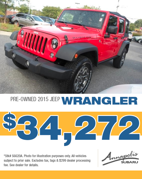 Save on a quality pre-owned 2015 Jeep Wrangler in Anne Arundel County, MD