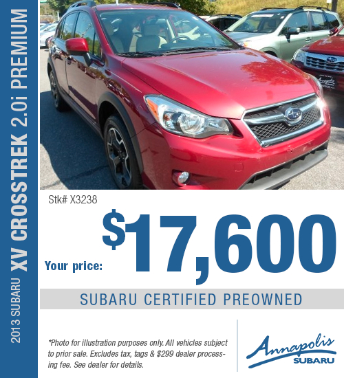 Save on a quality, certified pre-owned 2013 XV Crosstrek Premium in Anne Arundel County, MD