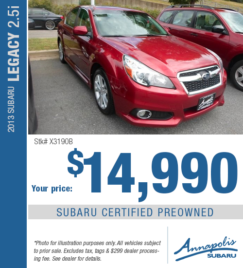 2013 Subaru Legacy Certified Pre-Owned Special in Annapolis, MD