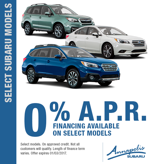 Take advantage of special savings on select new Subaru models in Annapolis, MD
