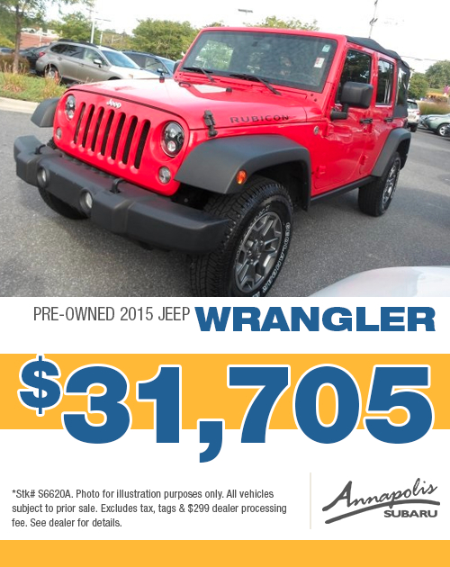 2015 Jeep Wrangler Pre-Owned Special in Annapolis, MD