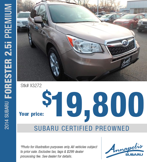 2014 Subaru Forester 2.5i Premium Certified Pre-Owned Special in Annapolis, MD