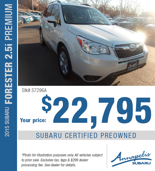 2015 Subaru Forester 2.5i Premium Certified Pre-Owned Special in Annapolis, MD