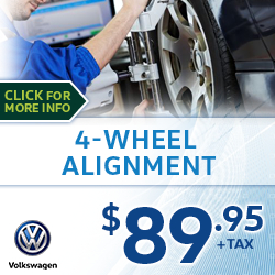 Click to save with our Volkswagen 4-Wheel Alignment Service Special in Houston, TX