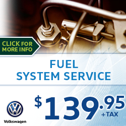Click to save with our Volkswagen Fuel System Service Special in Houston, TX
