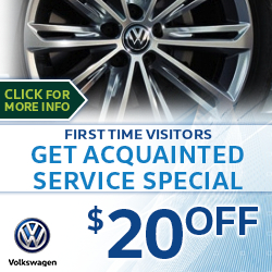 Click to save with our Volkswagen Get Acquainted Service Special in Houston, TX