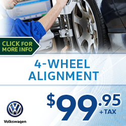 Click to view our 4-Wheel Alignment Service Special at Archer Volkswagen in Houston, TX