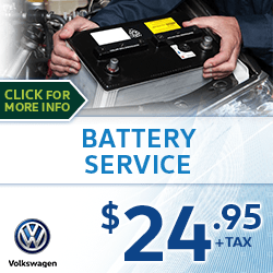 Click to view our Battery Service Special at Archer Volkswagen in Houston, TX