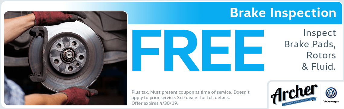 Free Brake Inspection Near Me >> Volkswagen Service Coupon For Brake Inspection In The Houston Area