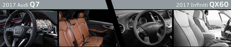 2017 Audi Q7 VS 2017 Infiniti QX60 Interior Comparison