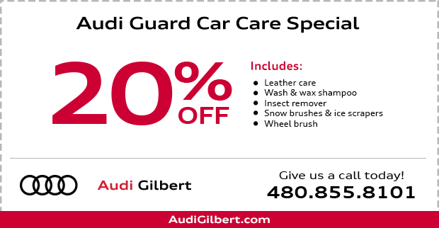20% Off Audi Guard Car Care Products in Gilbert, AZ