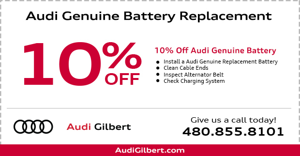 Genuine Audi Battery Parts Special in Gilbert, AZ