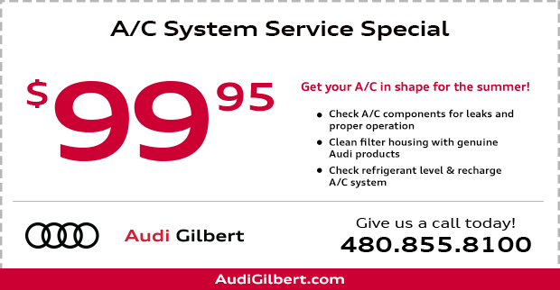 Save on our Audi Air Conditioning service this month at Audi Gilbert