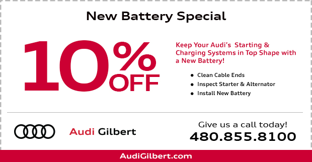 Save on our Audi Battery replacement service this month at Audi Gilbert