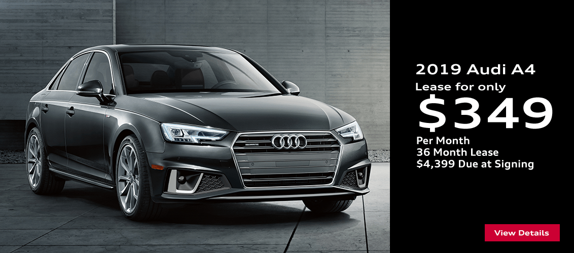 Save this month on this 2019 Audi A4 lease in Gilbert, AZ