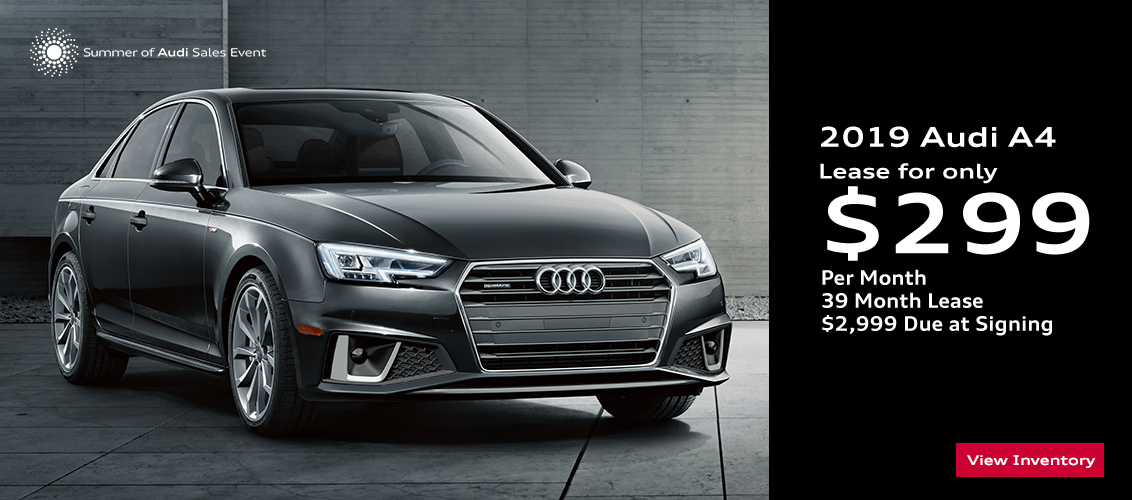 Save this month on this 2019 Audi A4 with this special lease offer serving Phoenix, AZ