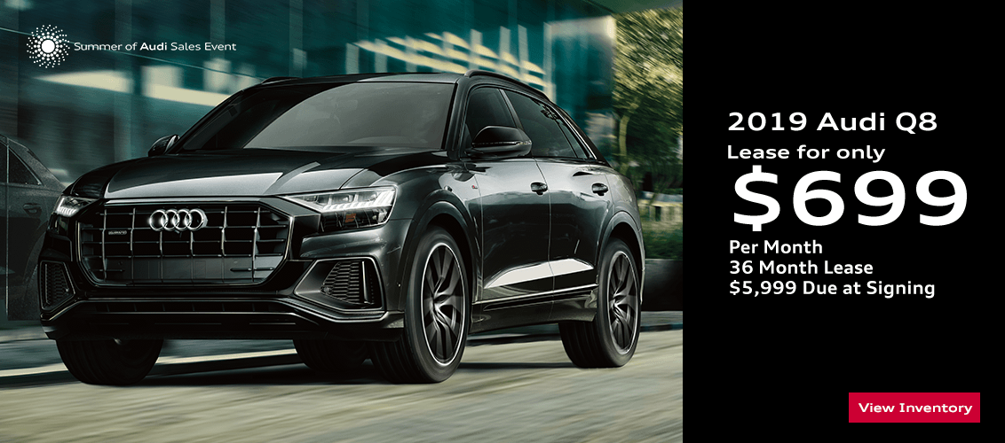 Save this month on this 2019 Audi Q8 with this special lease offer serving Phoenix, AZ
