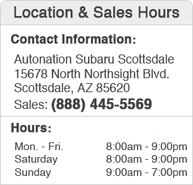 Power Subaru Sales Department Hours, Location, Contact Information