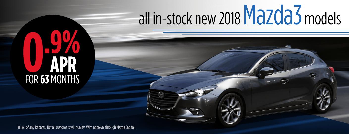 2018 Mazda3 Finance Specials in Butler, PA