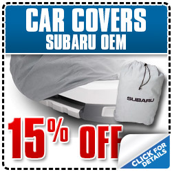 Subaru OEM Car Cover Accessory Discount Coupon serving Ventura, California