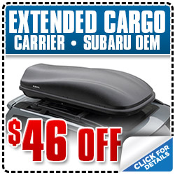 Subaru OEM Extended Cargo Carrier Parts Special serving Ventura, California