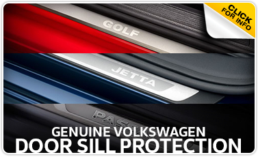 Learn more about the VW door sill protection available for purchase at Baxter VW Westroads