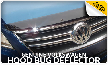 Learn more about the VW hood bug deflector available for purchase at Baxter VW Westroads