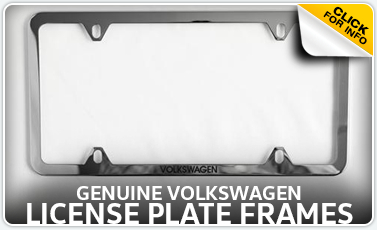 Learn more about the VW license plate frames available for purchase at Baxter VW Westroads