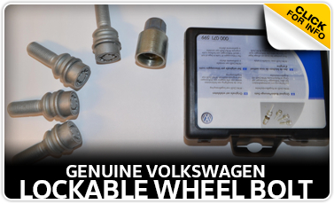 Click to learn more about genuine Volkswagen lockable wheel bolts in Omaha, NE