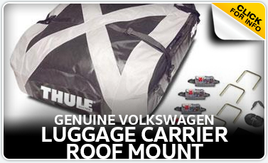Learn more about the VW roof mounted luggage carrier available for purchase at Baxter VW Westroads