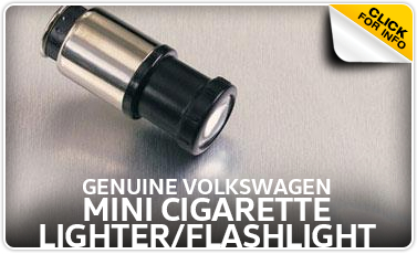 Click to learn more about our genuine Volkswagen mini cigarette lighter and flashlight in Omaha, NE