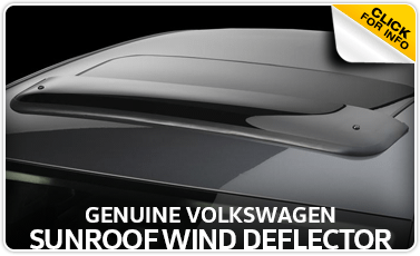 Click to research our sunroof wind deflector parts details at Baxter Volkswagen Westroads in Omaha, NE