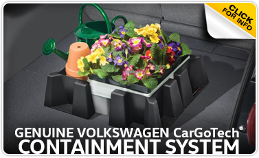 Learn more about the Genuine Volkswagen CarGoTech Containment System at Baxter Volkswagen Westroads serving Omaha, NE