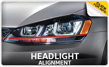 Click to view our Volkswagen headlight alignment service in Omaha, NE