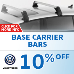 Save on Genuine VW Base Carrier Bars with this special coupon for use at Baxter VW Westroads