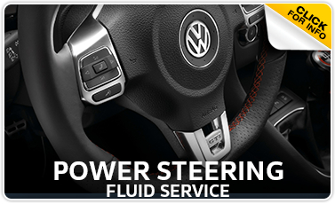 Volkswagen Power Steering Fluid Service Information serving Council Bluffs and Des Moines