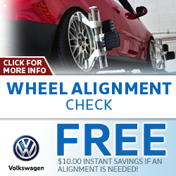 Click to view our Volkswagen Wheel Alignment Service Special in La Vista, NE