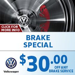 Click to view our Volkswagen Brake Service Special in La Vista, NE