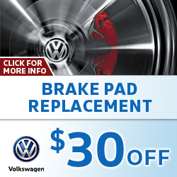 Click for special savings on a brake pad replacement service at Baxter Volkswagen La Vista